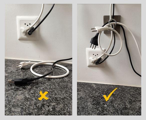 Keine Kabel mehr auf der Arbeitsoberfläche