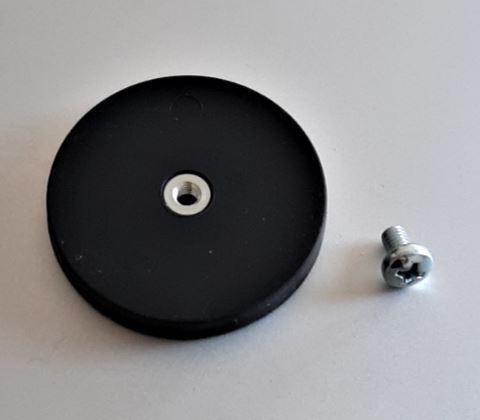 Gummierter Magnet mit Schraube