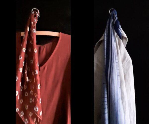 Seidenschal mit Bluse oder Jacke