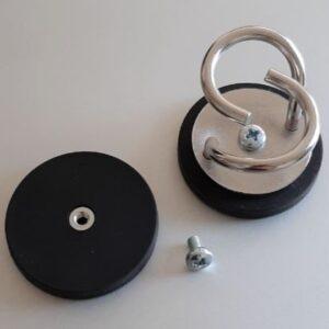 Gummierter Magnet inkl. Schraube